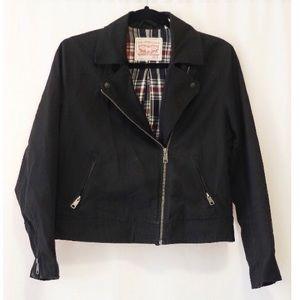 Levi's Black Cotton Biker Jacket
